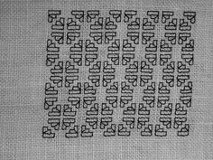 Blackwork fill-in pattern 161, via Flickr.