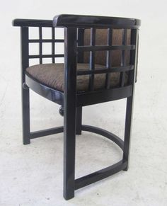 Barrel-Back Dining Chairs by Josef Hoffmann, Set of Four | From a unique…