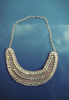 Brown and Gold Bib Necklace  https://www.etsy.com/shop/Thebasicloset https://www.facebook.com/thebasiccloset