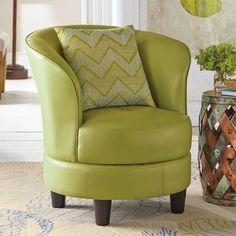 Rebecca Leather Swivel Chair - Grandin Road