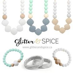 Trendy silicone teething accessories for mamas & their littles #teethingnecklace #teethingjewelry