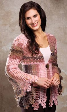 Shamrock Lace Crochet Sweater, design by Sharon Hubert Valencia, from the copy of Crochet! Magazine I'm giving away