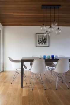 madison mid-century house seattle - first lamp architects - dining area
