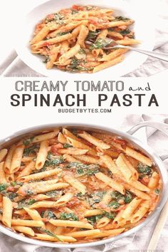 #Recipes #with #pasta #easy #creamy Creamy Tomato and Spinach Pasta is a fast an easy answer to dinnerâbrp classfirstletterOur site has been carefully designed for you  Scroll down for major different dinner compelling subjectpCharacteristic of The Pin Creamy Tomato and Spinach Pasta is a fast an easy answer to dinnerâbrThe pin registered in the Answer board is selected from among the pins with high Pictures quality and suitable for use in different areas Instead of wasting time between a… Easy Sausage Recipes, Healthy Dinner Recipes, Pasta Recipes, Chicken Recipes, Paleo Dinner, Keto Recipes, Vegetarian Recipes, Ham Dinner, Healthy Food