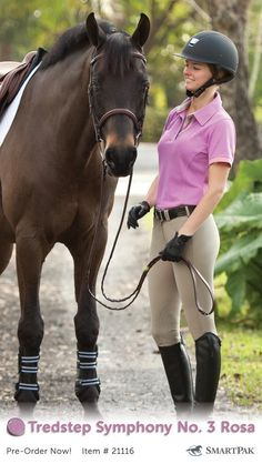 You know that fabulous person in your barn who always has the latest and greatest new thing? That could be you! Pre-order today and be the first to get your hands on a pair of Tredstep's new Symphony breeches. With a combination of classic beauty, movement, technical expertise, and precision the Symphony line sets a new standard in breech performance and design. Shop six stunning full seat and knee patch styles now.