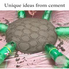 Unique ideas from cement crafts cement Cement Flower Pots, Diy Concrete Planters, Cement Art, Concrete Crafts, Concrete Projects, Concrete Garden, Diy Crafts Hacks, Diy Home Crafts, Garden Crafts