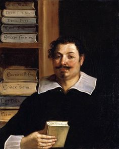 .:. Portrait of Francesco Righetti (1626-28). Guercino (Italian, 1591-1666). Oil on canvas.The sitter was Francesco Righetti (1595-1673), doctor of laws who served as a member of the city council and as governor of Cento, Guercino's own native city. Though Righetti would have been only 30 years old at the time, we know he was impressed by Guercino's works and indeed went on to commission at least two other paintings from the artist. He is depicted in his library.