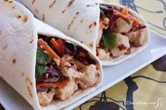 Thai chicken tacos bring a yummy flavor to a wrap - CherylStyle