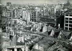 London Wall and Aldermanbury Avenue, February 1941