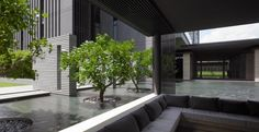The Marq - Singapore - Architecture Singapore Architecture, Modern Architecture House, Modern House Design, Landscape Architecture, Landscape Design, Architecture Design, Modern Tropical House, Tropical Houses, Modern Landscaping