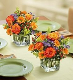 Enchanting cube with your favorite fall mix. Buy one or mix two or more to fill your beautiful table.