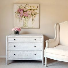 White wash furniture-love this dresser