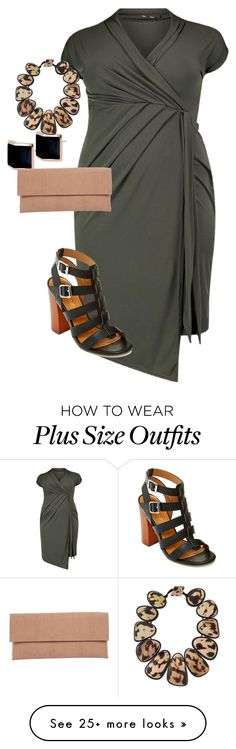 """""""plus size summer chic"""" by kristie-payne on Polyvore featuring Kattri, Lori's Shoes, Bamboo and Viktoria Hayman"""