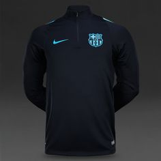 Nike FC Barcelona Drill Top - Light Current Blue/Black