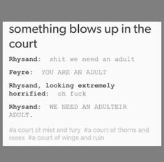A Court Of Wings And Ruin, A Court Of Mist And Fury, Book Memes, Book Quotes, Acotar Funny, Roses Book, Feyre And Rhysand, Sara J Maas, Sarah J Maas Books