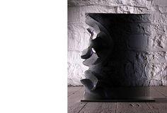 Colin Reid - untitled in grey purple glass Arctic Landscape, Glass Artwork, Purple Glass, Mesh, Ceramics, Grey, Ceramica, Gray, Pottery