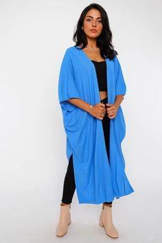 Women's Batwing Sleeves Shabby Blue Cardigan – Blushgreece.shop Blue Cardigan, Batwing Sleeve, Bat Wings, Kimono Top, Shabby, Model, Shop, Sleeves, Fashion