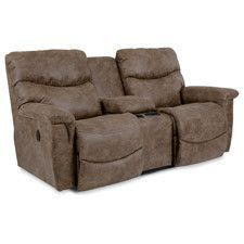 Sometimes you can have it all, and our James reclining loveseat is proof. Comfortable, cool and laid back, James makes relaxing look as great as it feels. Perfect for movie night or game day, with convenient built-in storage and two cup holders. With inviting bucket style seats and chaise legrests that cradle you in support while stitched pillow back styling and pillow top arms pamper you in softness.