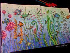 Lost Ocean Colorido Por Silvia RCassol Johanna Basford Coloring BookAdult