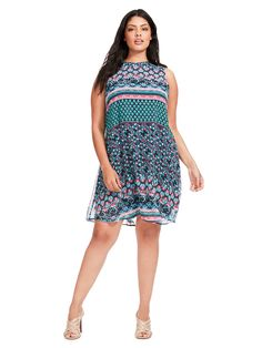 Swing Dress In Mixed