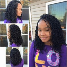 Crochet Braids Kid Friendly : Beautiful crochet kid friendly hair style. 16 braids in the front and ...