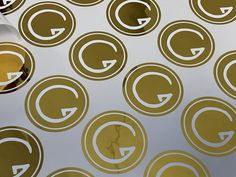 samolepky Gravitas + digitálna ražba zlatou foliou + predrez  grafika: @dvelamy, tlač: @vach.print Plates, Tableware, Kitchen, Licence Plates, Dishes, Dinnerware, Cooking, Griddles, Tablewares