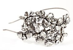Metal Hairband strass swarovksy crystal// Cerchietto in metallo (ottone) argento antico strass swarovksy crystal  €350,00  #wedding #bride #hair
