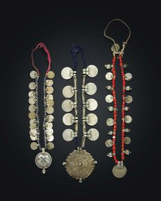 A set of three silver coin necklaces   INDIA, 20TH CENTURY