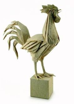 Eric Joisel Origami Rooster for Origami Post