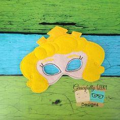 Princess Aurora Felt Mask Embroidery Design - 5x7 Hoop or Larger