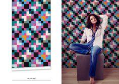WR0070E - Night Flower Wallpaper. Modern wallcoverings from eBoy