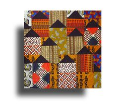 African Huts-Pattern - Material Obsession
