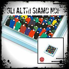 """"""" Gli Altri Siamo Noi """" Fermacarte in Cristallo   Fai un salto su ➜ http://www.artemidatre.com/   ● #Arte #fermacarta #fermacarte #cristallo #oggetto #idea #lusso #design #scrivania #noi #art #artist #provocazione #street #ufficio ●"""