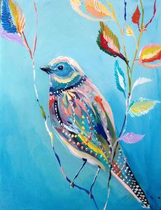 ... pretty paintings of birds.