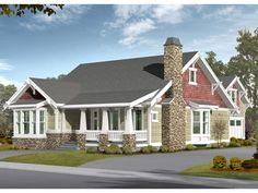 Morganfield Craftsman Home  from houseplansandmore.com