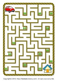 Maze Worksheet, Tracing Worksheets, Worksheets For Kids, Mazes For Kids Printable, Kindergarten Colors, Maze Puzzles, Sheep Crafts, Paper Plate Crafts For Kids, Games For Toddlers