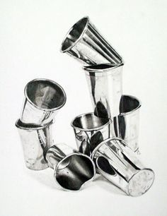 Reflective Study, graphite pencil drawing