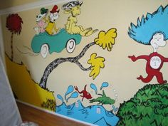 kids murals done by professional artist   Wall Mural Kids, Wall Mural From Dr. Seuss Nursery For Your Kids Room