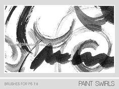 Paint Swirls - Download  Photoshop brush http://www.123freebrushes.com/paint-swirls/ , Published in #GrungeSplatter. More Free Grunge & Splatter Brushes, http://www.123freebrushes.com/free-brushes/grunge-splatter/   #123freebrushes