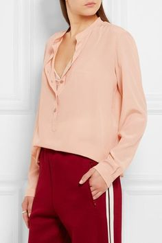 Stella McCartney - Eva Silk Crepe De Chine Blouse - Blush - IT40