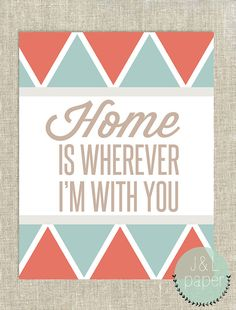 """Home Is Wherever I'm With You Tribal 11""""x14"""" Art Print"""