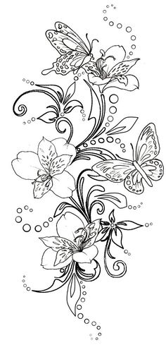 fleur papillon flower butterfly coloriage coloring - Small Flower Coloring Pages