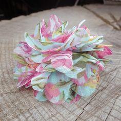 Floral Fabric Hair Clip  #craft365.com