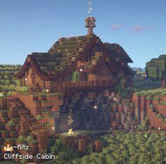 Casa Medieval Minecraft, Minecraft House Plans, Minecraft Cottage, Cute Minecraft Houses, Minecraft Castle, Minecraft Funny, Minecraft House Designs, Minecraft Blueprints, Minecraft Creations