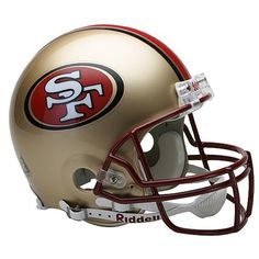 NFL San Francisco 49ers Full Size Proline VSR4 Football Helmet by Riddell. $199.99. Support your favorite team by displaying the NFL® Proline Authentic football helmet in your favorite room. This officially licensed helmet is designed with a Kra-Lite II® Polycarbonate Lexan shell that is great for autographs, a polyvinyl-coated quarterback/running back style face mask, an inflatable liner with 2 inflation points and a 4-point chin strap. The team-colored helmet s...