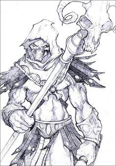 Skeletor by kamgates on DeviantArt Cartoon Kunst, Comic Kunst, Cartoon Art, Comic Books Art, Comic Art, Book Art, Desenhos Halloween, Totenkopf Tattoos, Arte Obscura
