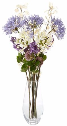 The 37 best artificial flowers images on pinterest art flowers artificial flowers arrangement with silver dollars and agapanthus mightylinksfo