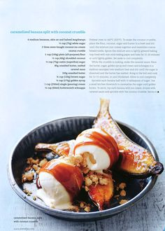 Caramelized Banana Split + Coconut Crumble | donna hay au