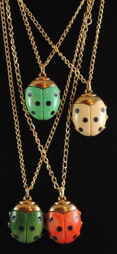 Vintage Ladybug Pendant Large by ErikasCollectibles on Etsy
