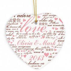 Personalised Love Ceramic Heart Decoration